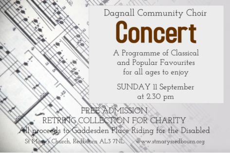 Dagnall Choir Concert Poster